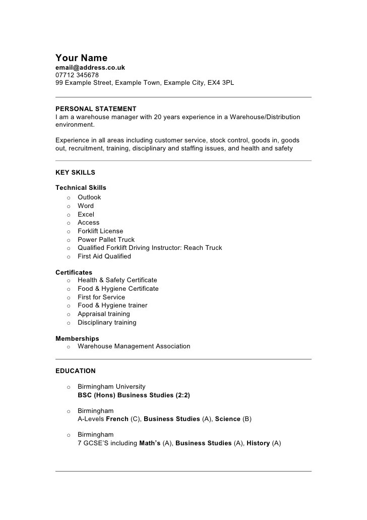 resume examples for retail retail cv template sales environment