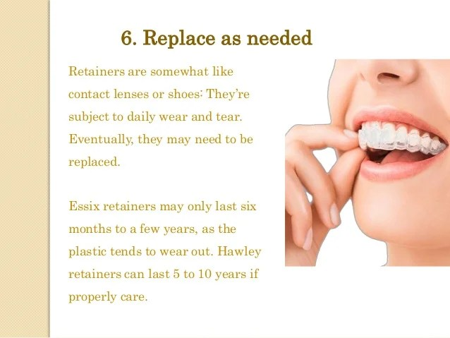 Six tips for Removable retainer care