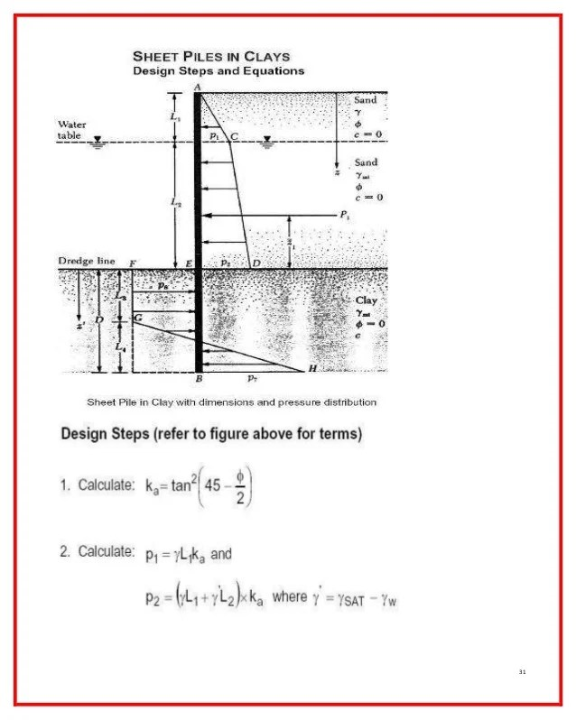Sheet Pile Wall Design Example - Ronniebrownlifesystems