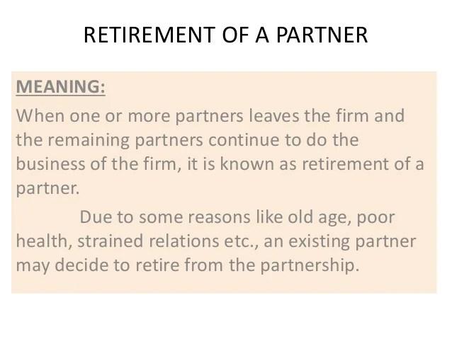 Retirement of a partner by N Bala Murali Krishna