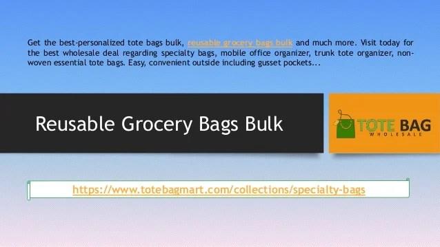 reusable grocery bags bulk