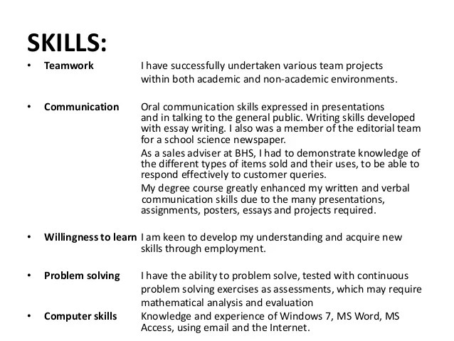 Teamwork Examples For Resume Teamwork Resume Managnment Examples  General Skills For Resume