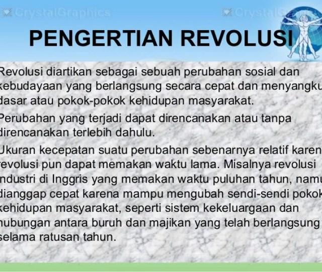 Pengertian Revolusi