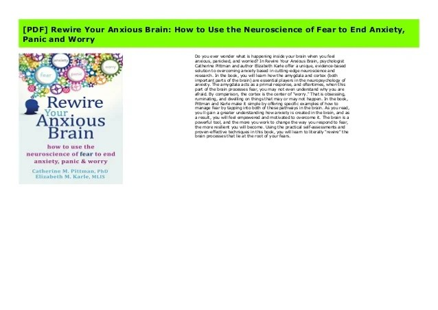 [PDF] Rewire Your Anxious Brain: How to Use the ...