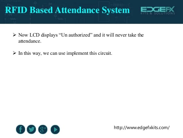 Rfid Based Attendance System Circuit Using Microcontroller Share The