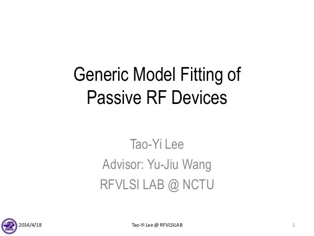 Generiic RF passive device modeling