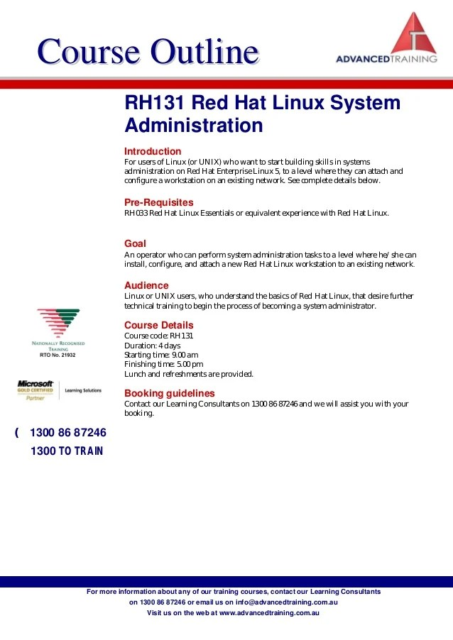 Rh131 redhatlinuxsystemadministration