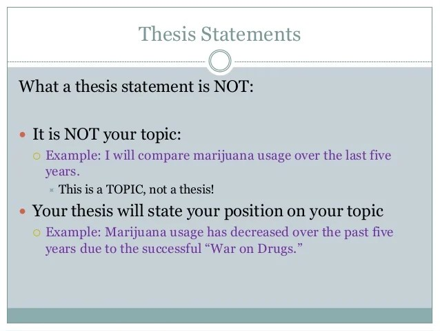 Comparative essay thesis statement