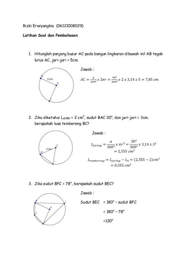 Soal Lingkaran Kelas 8 Pdf : lingkaran, kelas, LINGKARAN-, Pembahasan