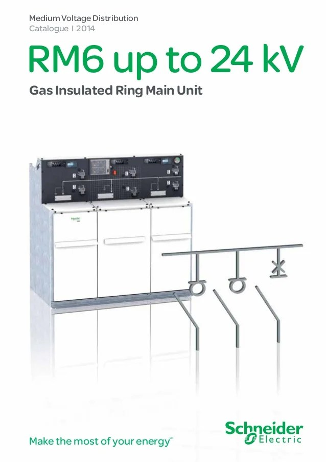 Schneider RM6  MV Medium Voltage Compact Switchboard Ring Main Unit