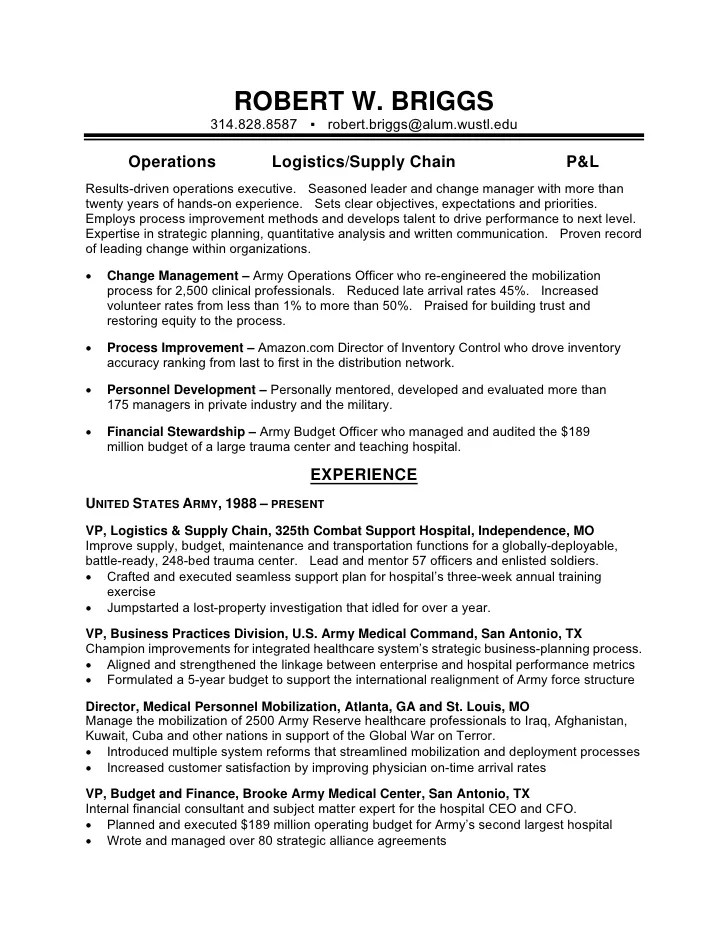 Army Reserve Resume Sample - Apigram.Com