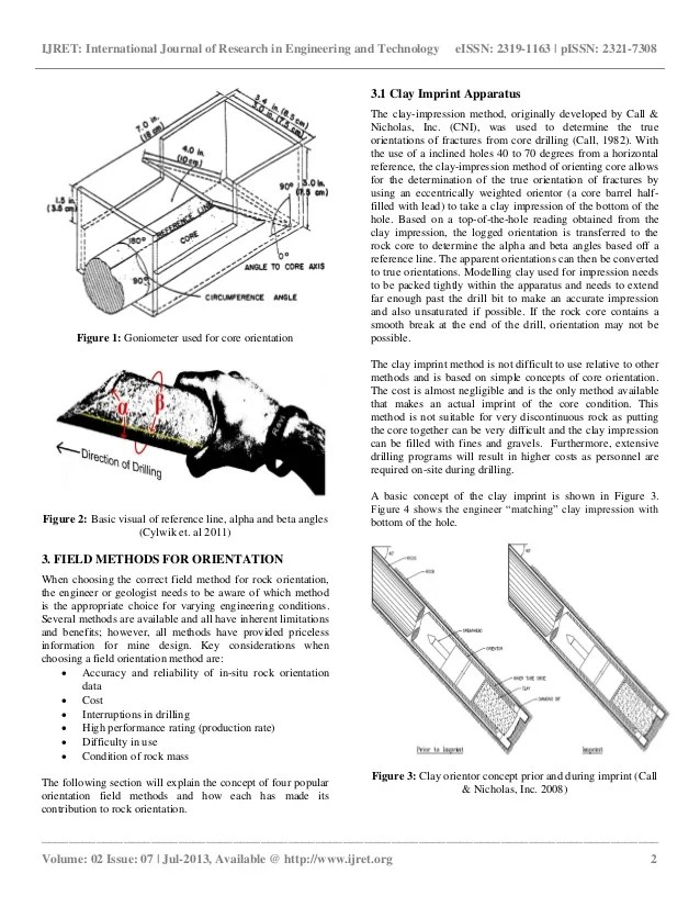 slope orientation diagram how to do a flow rock core for mapping discontinuities and stability 2