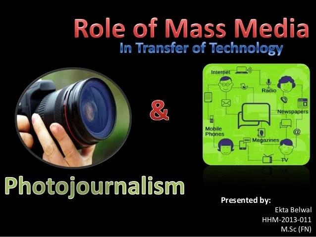 Role Of Mass Media