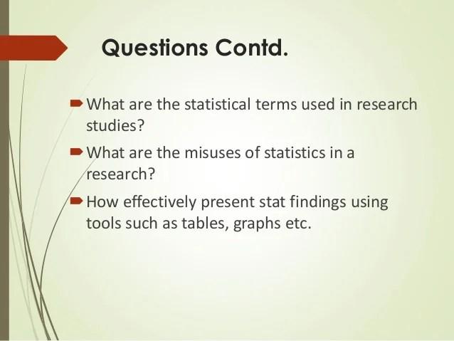 Role Of Statistics In Scientific Research