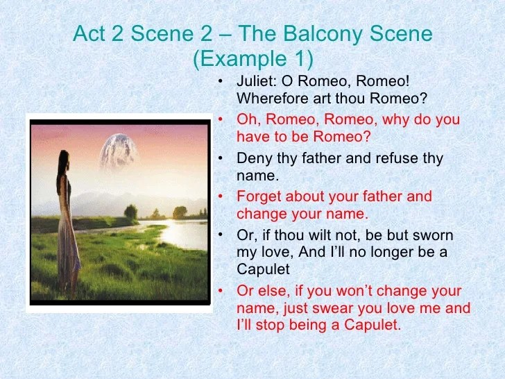 Image Result For Romeo And Juliet Act Scene Script
