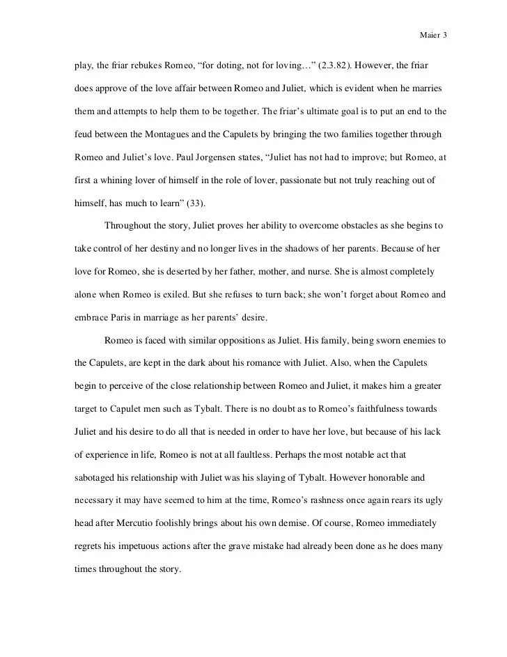 Shakespeare Romeo And Juliet Essay Essay Topics For High School