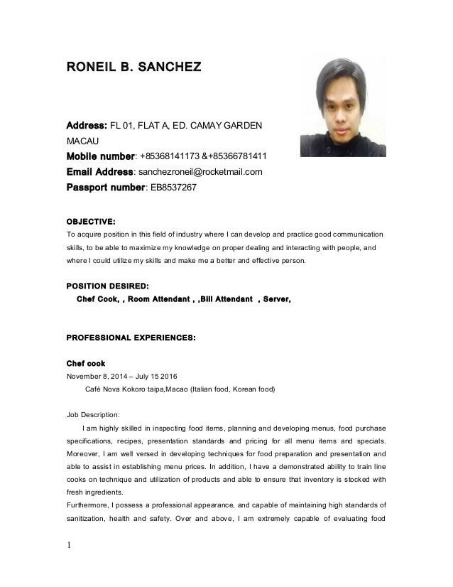 job presentation letter