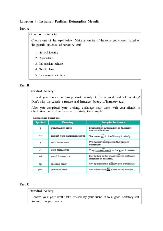 Rpp Bahasa Inggris SMA Kelas X Teks Hortatory
