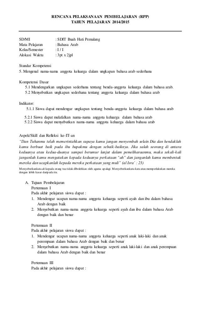 Rpp Bahasa Arab Kelas 6 Mi Kurikulum 2013 : bahasa, kelas, kurikulum, Bahasa, Belajar