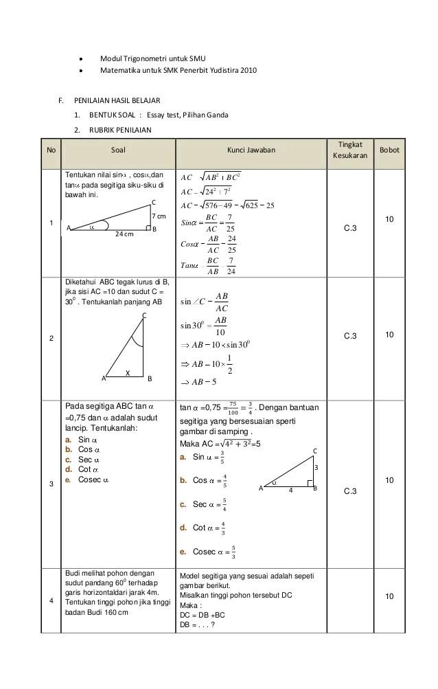 Contoh Soal Perbandingan Trigonometri Pada Segitiga Siku-siku : contoh, perbandingan, trigonometri, segitiga, siku-siku, Contoh, Tentang, Perbandingan, Trigonometri, Segitiga, Dapatkan