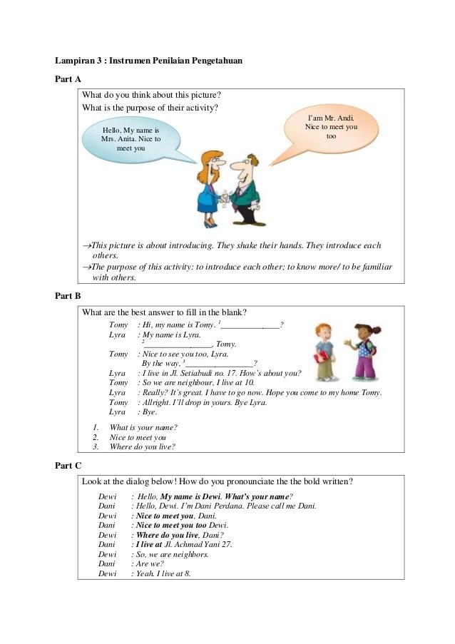 Contoh Dialog Introducing Others : contoh, dialog, introducing, others, Bahasa, Inggris, Kelas, Introduction