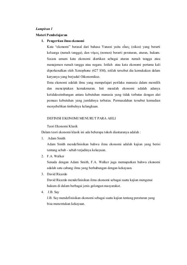 Rpp Ekonomi Sma X Kd 3 1