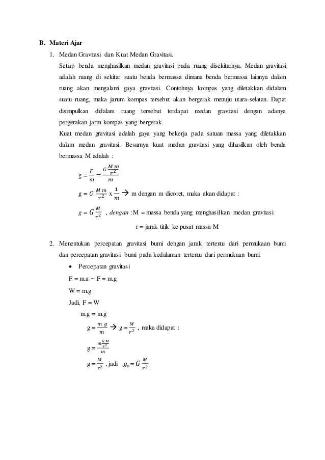MEDAN GRAVITASI | physics for high school