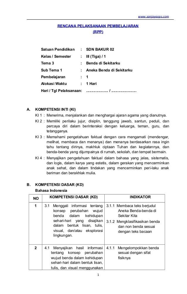 RPP K13 Kelas 3 Revisi 2018 Semester 2 - RPP KURIKULUM