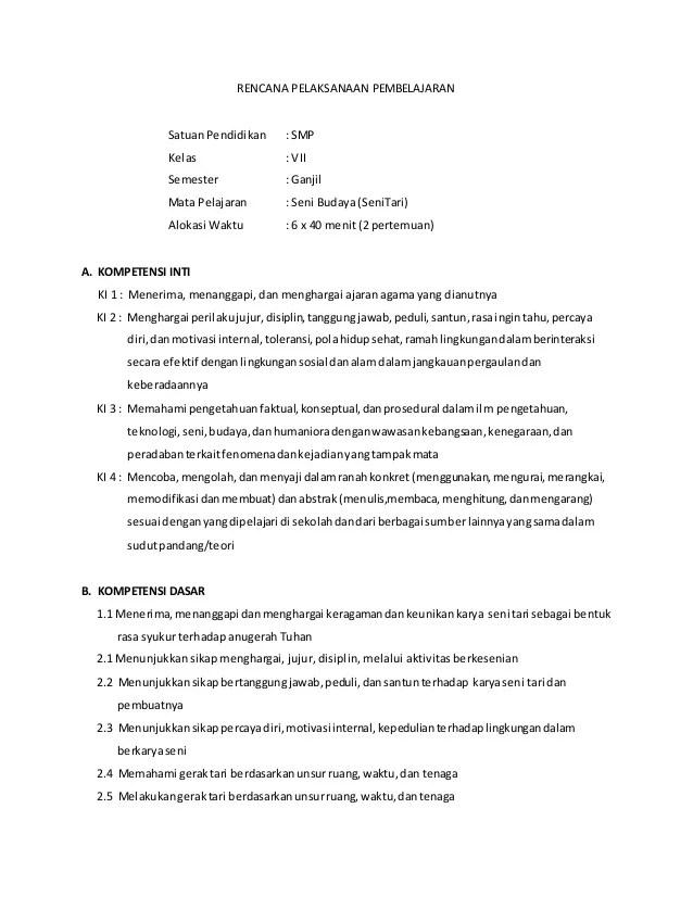 Rpp Seni Budaya Smp Kelas 7 8 9 Kurikulum 2013 : budaya, kelas, kurikulum, Budaya