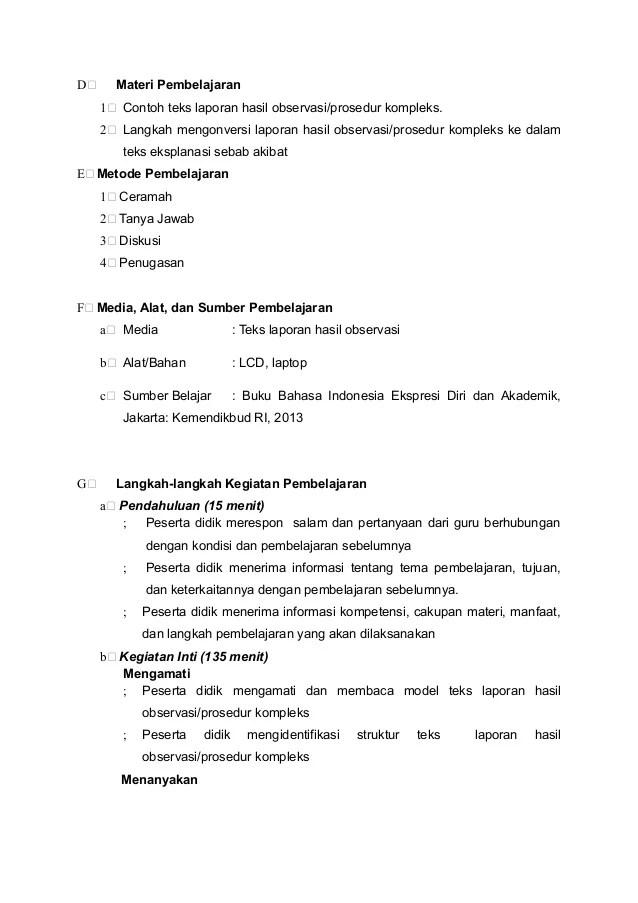 Materi Teks Laporan Hasil Observasi B Indonesia Kelas X Sma Smk Observasi Lho Materiindonesia Cute766