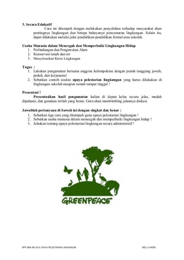 Usaha Menjaga Kelestarian Lingkungan : usaha, menjaga, kelestarian, lingkungan, Upaya, Pelestarian, Lingkungan, Welly