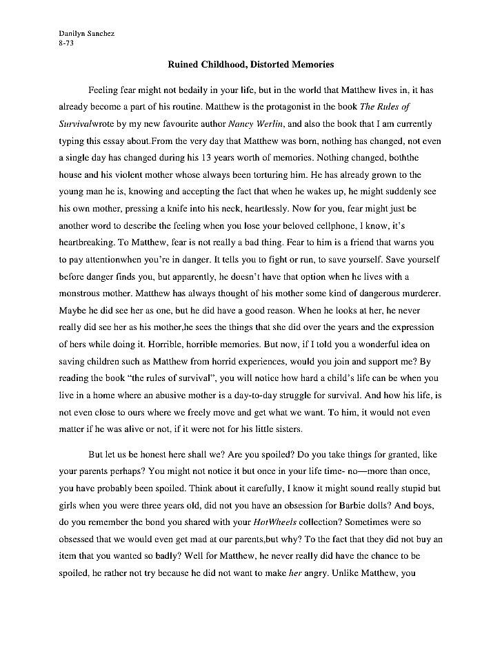quote on childhood memory reflective essay template picture algorithm computer graphic science thesis essay writing conclusion an essay about childhood