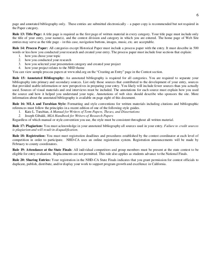 Rule Book Nhd 2012