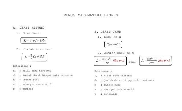 Kamu bisa menuliskan sebuah persamaan dan meminta pada gebetan untuk mencari di google apa maknanya. Rumus Matematika Bisnis