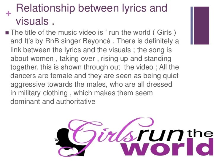 Beyonce Run the world anaylsis