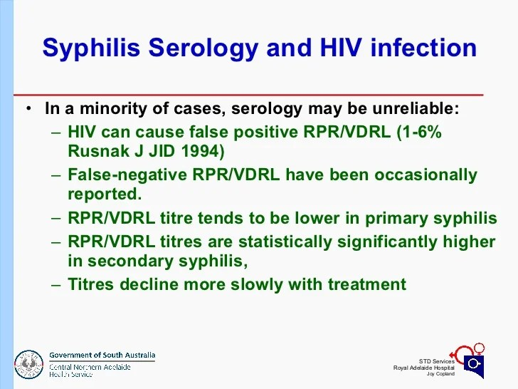 Russell Waddell: Syphilis Presentation and Treatment