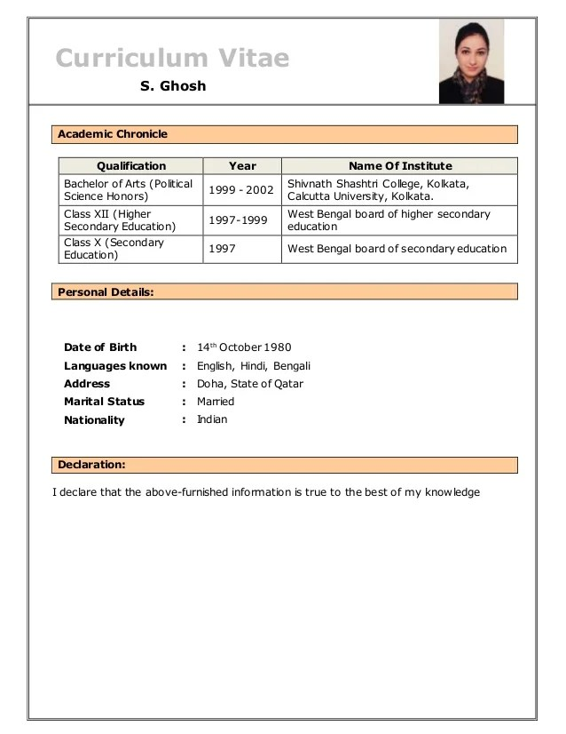 resume-of-s-ghosh-4-638 Sample Application Letter For Hotel And Restaurant Management Ojt on