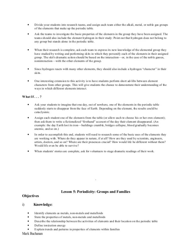 Lesson plan on periodic table brokeasshome s1 2 chemistry and periodic table unit plan urtaz Choice Image