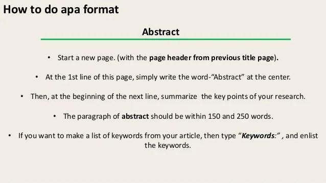 Apa Format Keywords Hizli Rapidlaunch Co