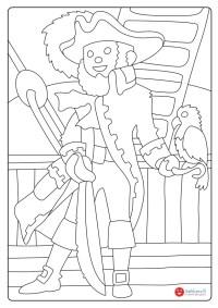 Il capitano - Disegni da colorare - Sabbiarelli