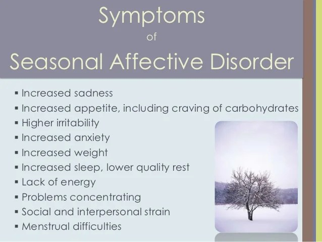 Coping with Seasonal Affective Disorder aka Winter Blues