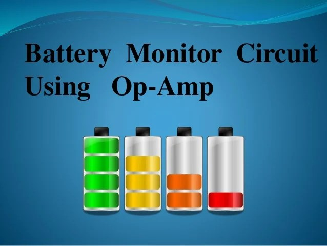 Lm324diagram Lm324 Battery Monitor Circuit Diagram