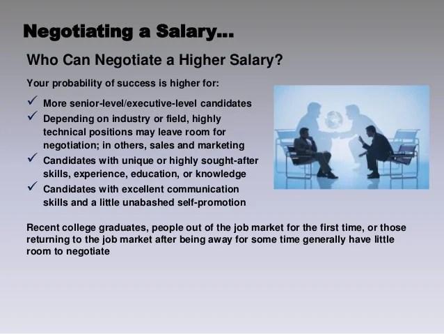 negotiating a salary