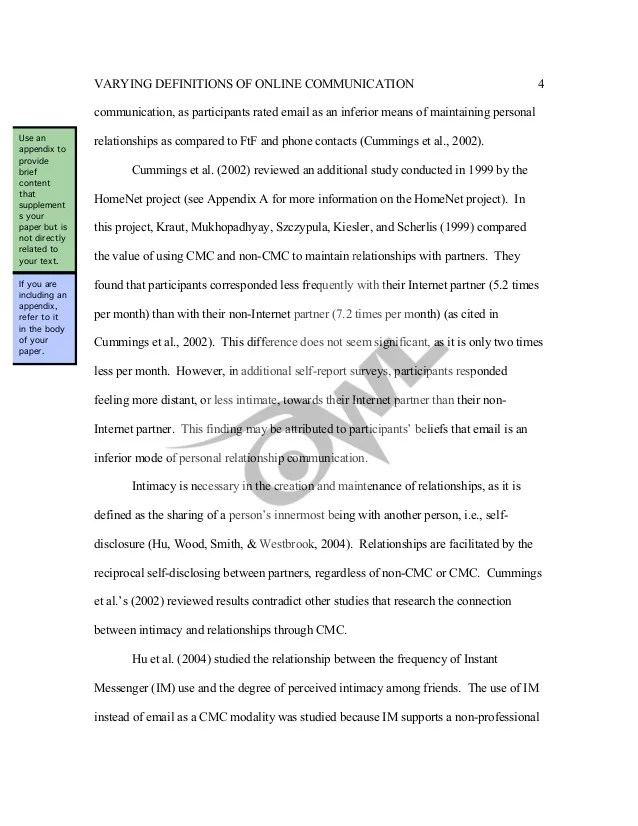 Sample Apa Literature Review By The Online Writing Lab