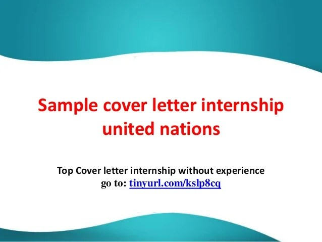 cover letter for united nations