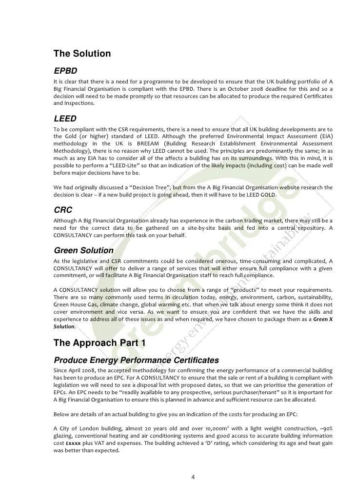 Sample Energy Saving Proposal