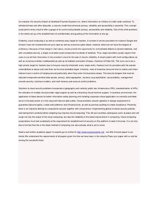 Cloud Computing Essay Sample Essay On Cloud Computing Sample Essay