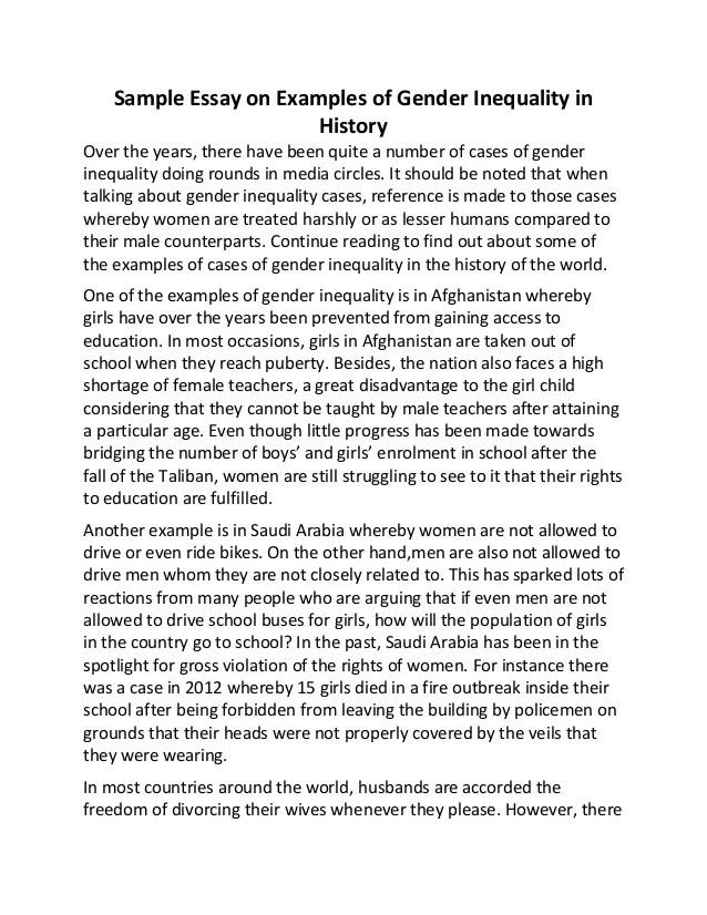 Essay On Gender Equality On Gender Equality Gender Equality Teen
