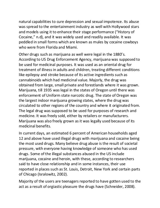 Example Of Research Paper About Drug Addiction Term Paper Academic