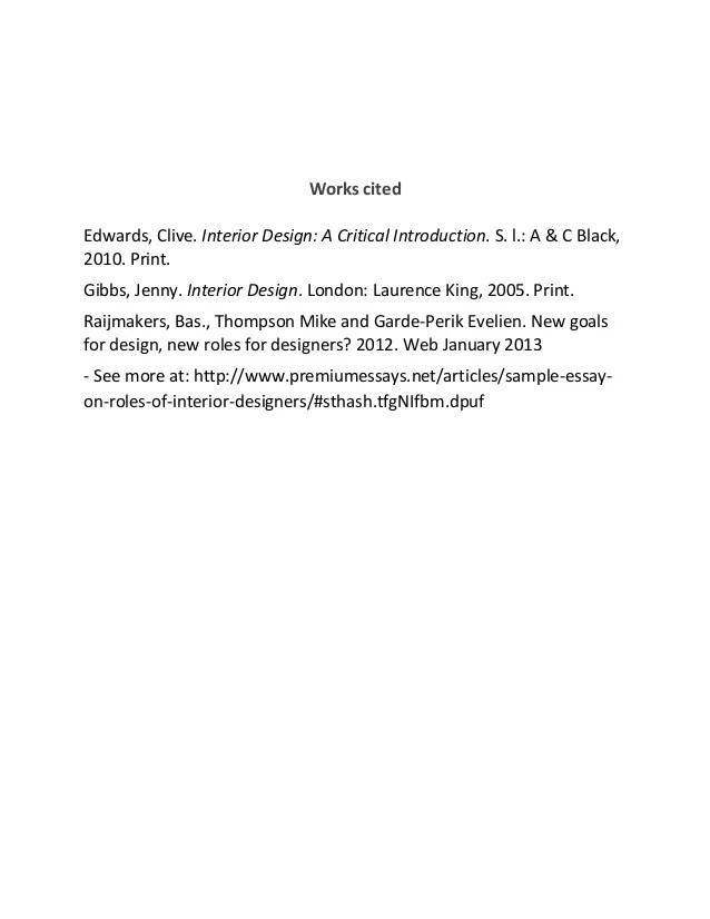 Design essay topics